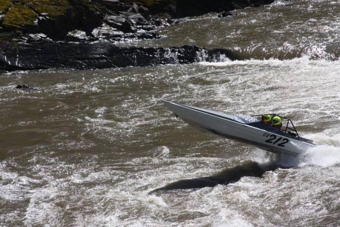 Jet boat on the Salmon River in Riggins.