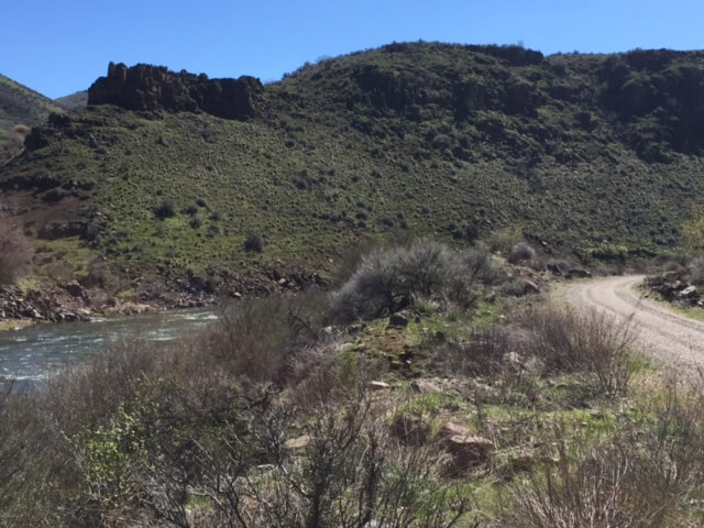 The river along the Weiser River Trail
