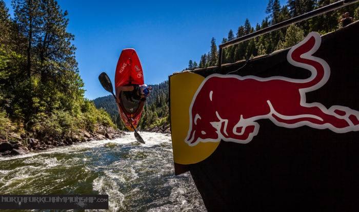 Kayaker at North Fork Championship.