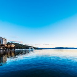 A scenic view of the Coeur d'Alene Resort. Photo Credit: Idaho Tourism
