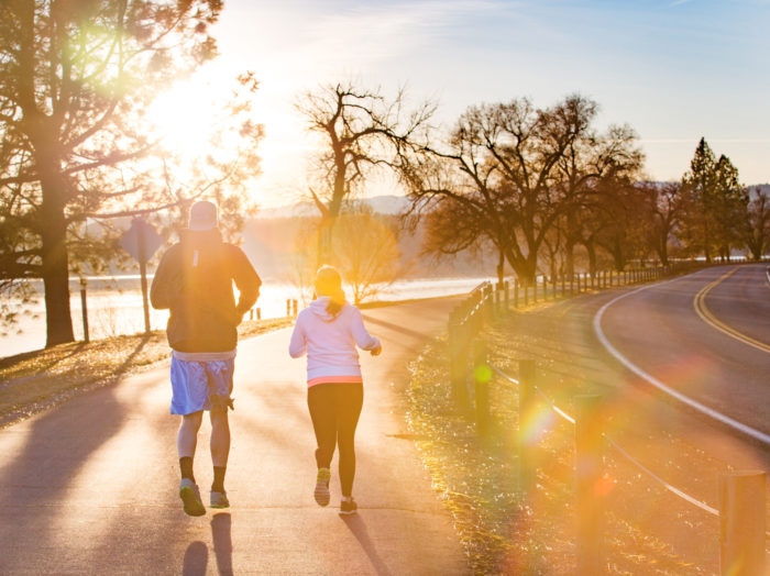 Enjoying an afternoon jog along the Lake CDA running path. Photo Credit: Idaho Tourism