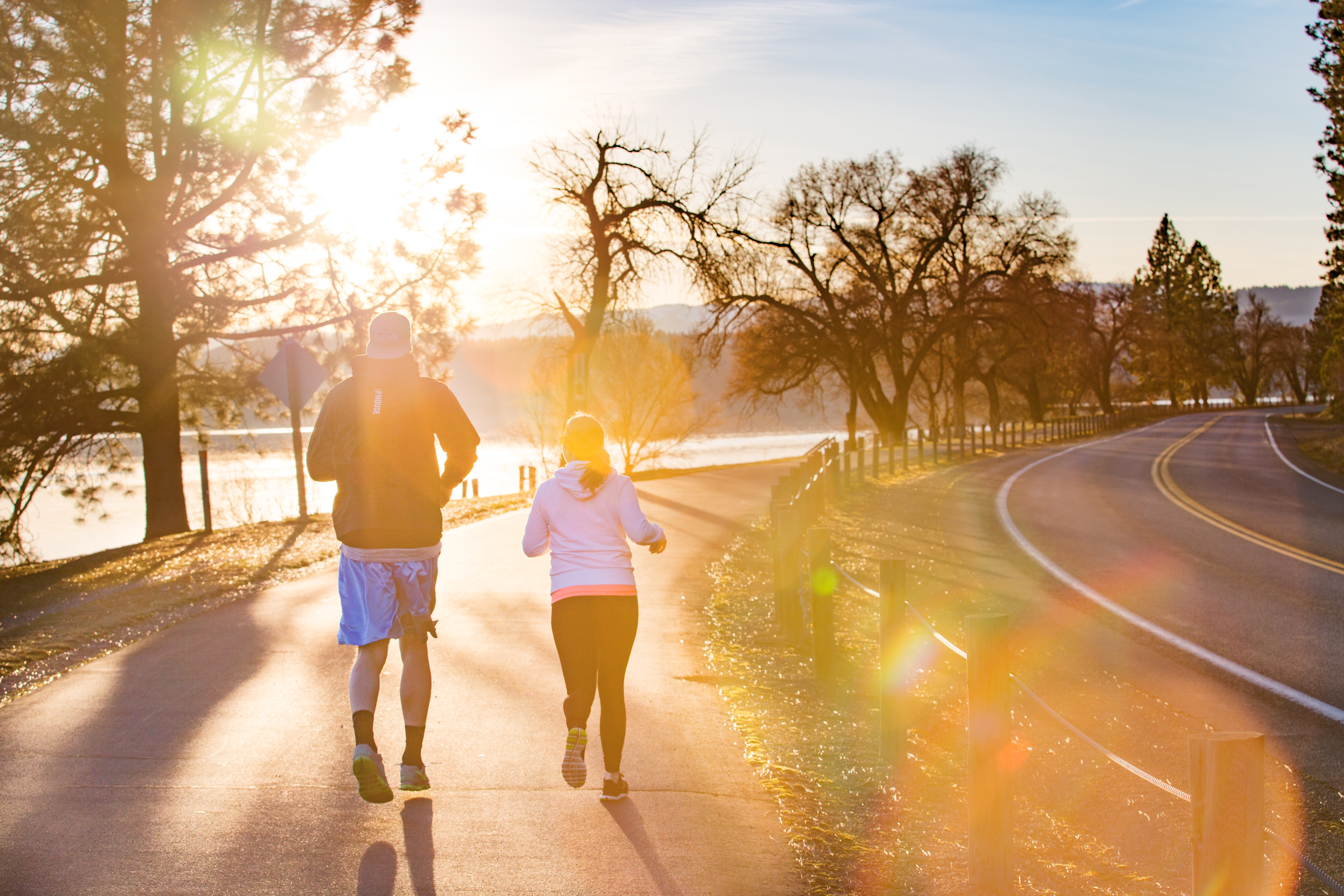 Enjoying an afternoon jog along the Lake CDA running path. Photo Credit: Idaho Tourism