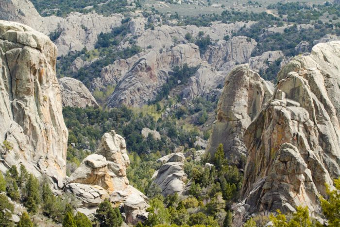 Large rock formations at City of Rocks.