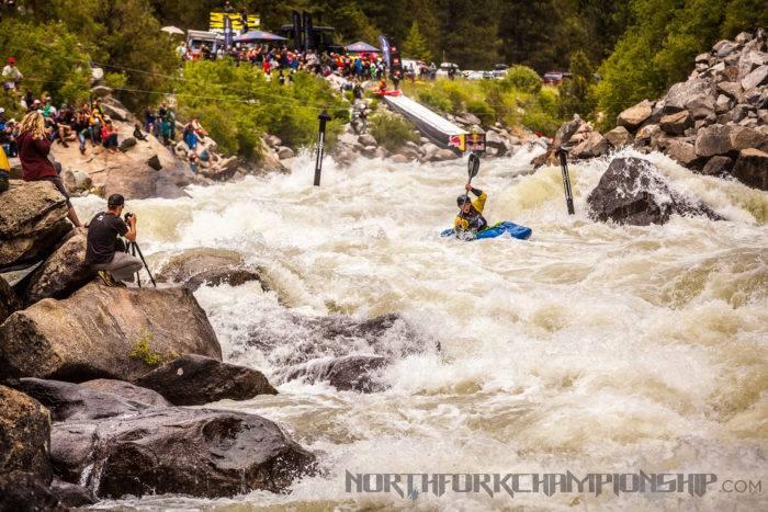 Kayaker at North Fork Championship