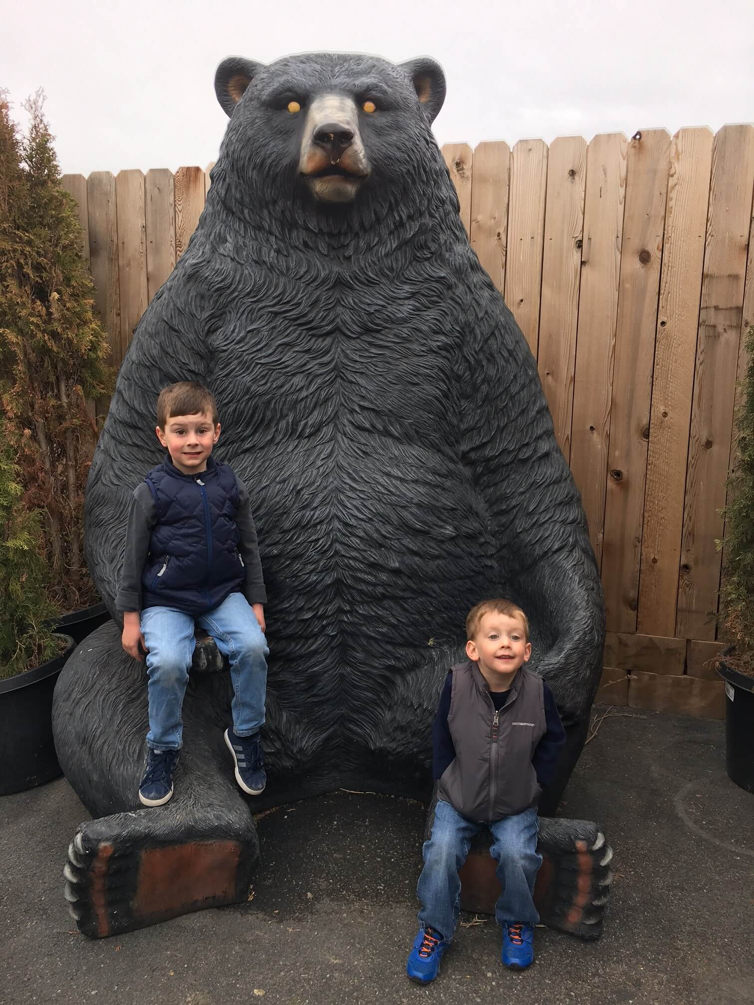 It's all smiles during adventures at Yellowstone Bear World.