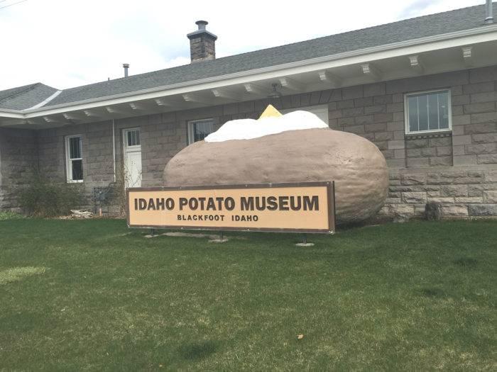 Giant potato at Idaho Potato Musuem