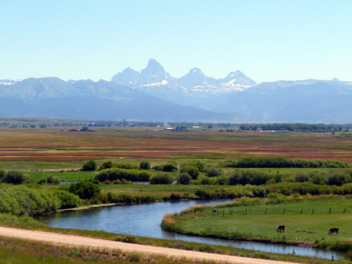 Breathtaking views can be found in the Teton Valley.