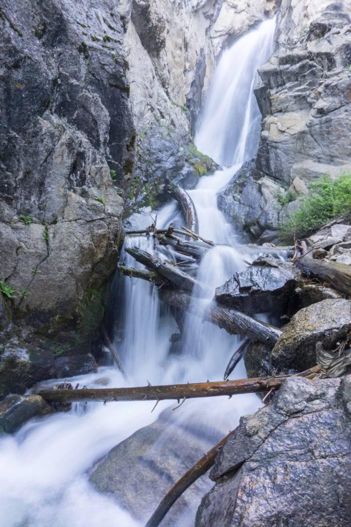 A mountain waterfall.