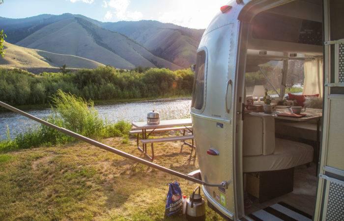 campsite at Wagonhammer campground