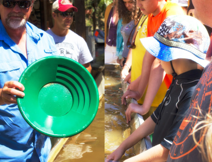 group panning for gold