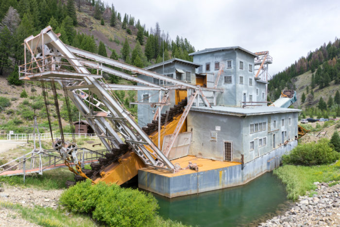 old mining dredge