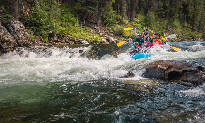 rafters on the salmon river