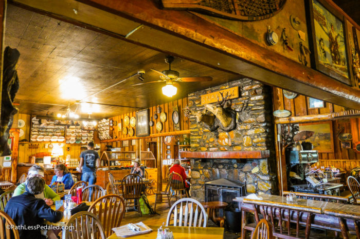 Inside quirky restaurant called the Snake Pit