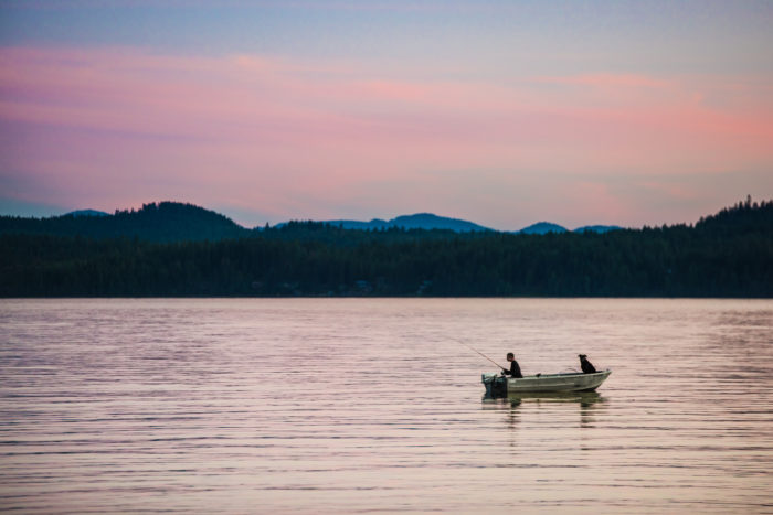 Fishing on Lake Pend Oreille