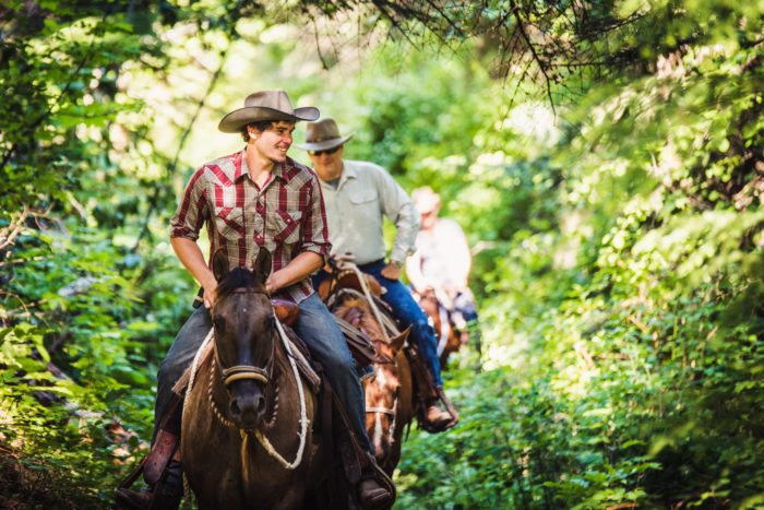 Guided horseback rides at Red Horse Mountain Ranch.