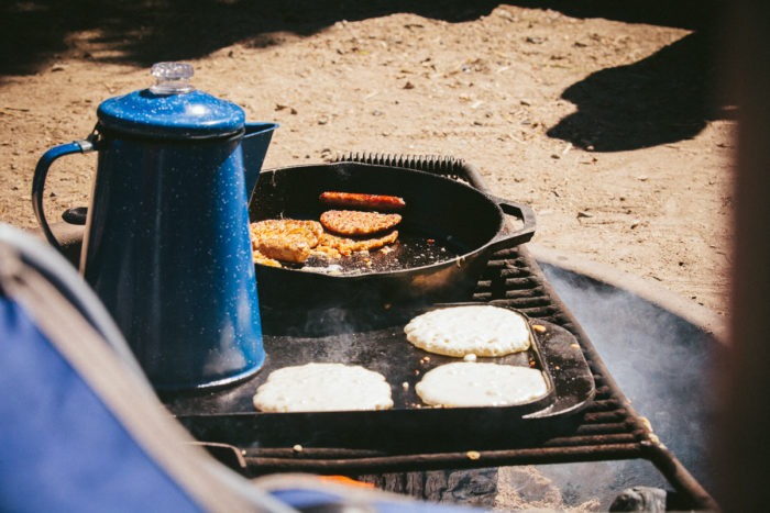 Cooking up Panhandle Pancakes on a beautiful Idaho morning.