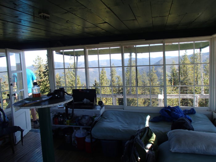 interior of fire lookout