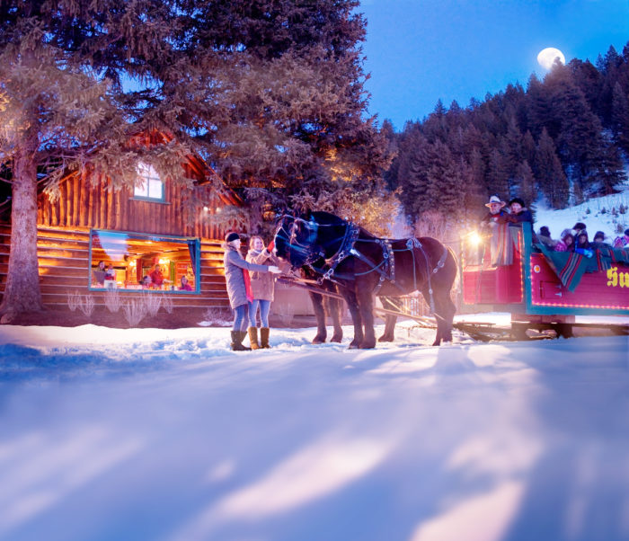 Sleigh riding in Sun Valley, Idaho