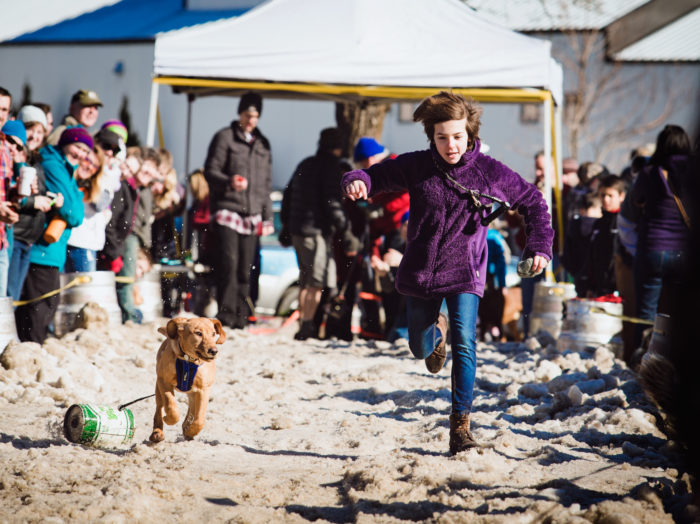 Dog Keg Pull Races, Sandpoint Winter Carnival, Sandpoint. Photo Credit: Idaho Tourism