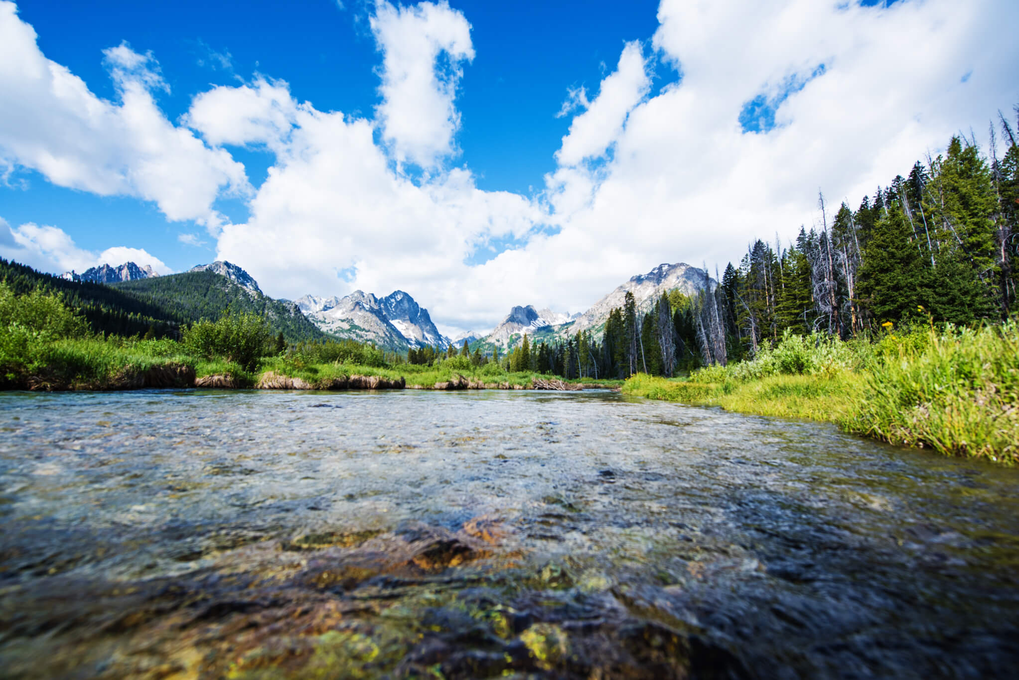 Fishhook Creek Trail near Redfish Lake. Photo Credit: Idaho Tourism