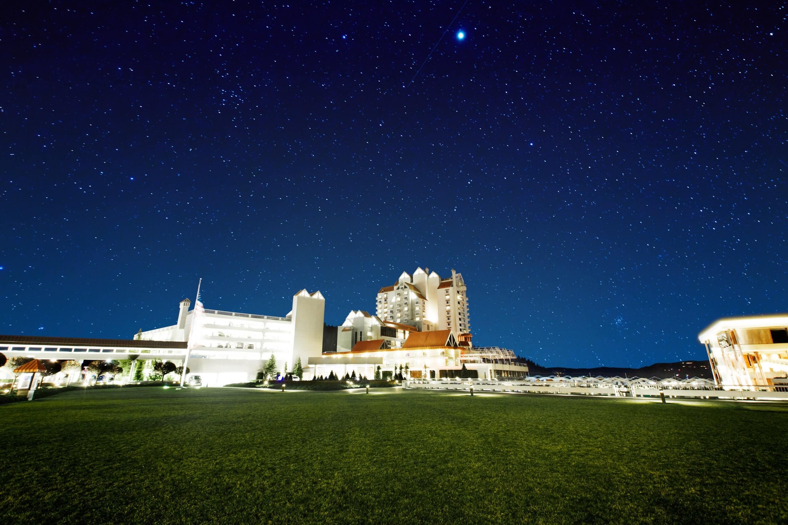 Night Sky, The Coeur d'Alene Resort, Coeur d'Alene. Photo Credit: Idaho Tourism