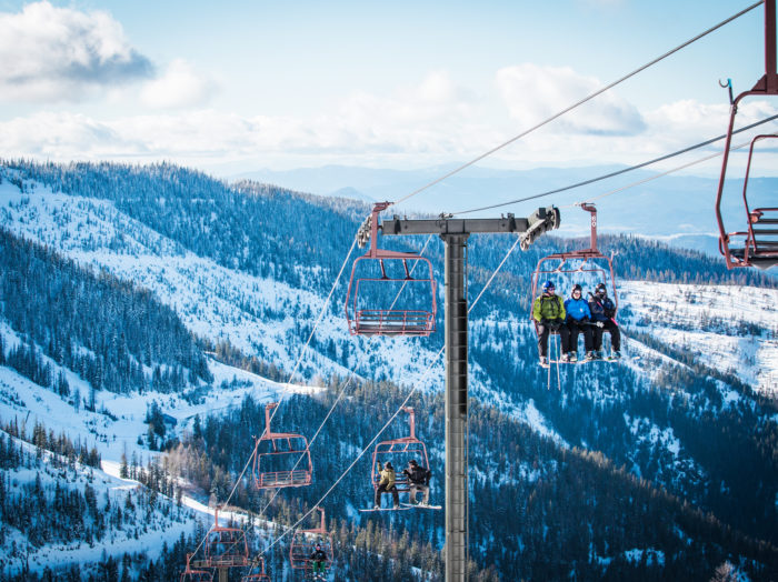Skiing, Silver Mountain Resort Lodge, Kellogg. Photo Credit: Idaho Tourism