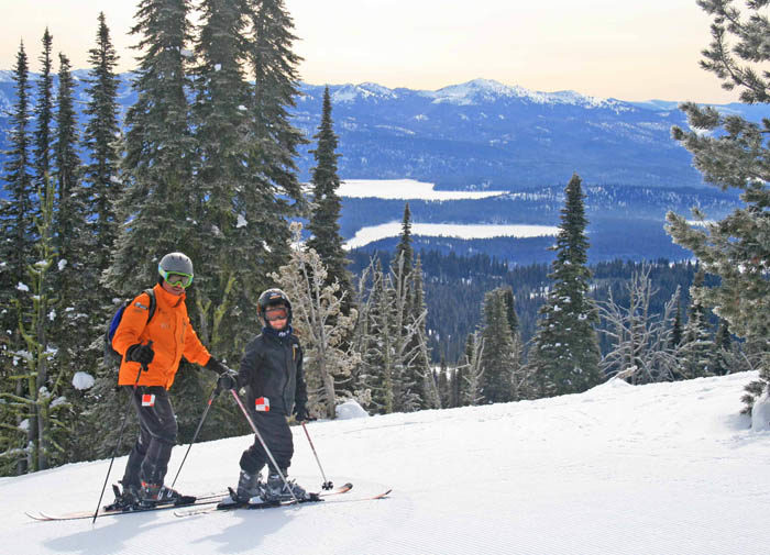 Skiing at Brundage Mountain Resort. Photo Credit: Ski Idaho