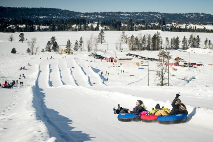 Tubing at The Activity Barn. Photo Credit: Ski Idaho