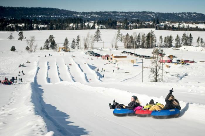 Tubing at The Activity Barn. Photo Credit: Ski Idaho