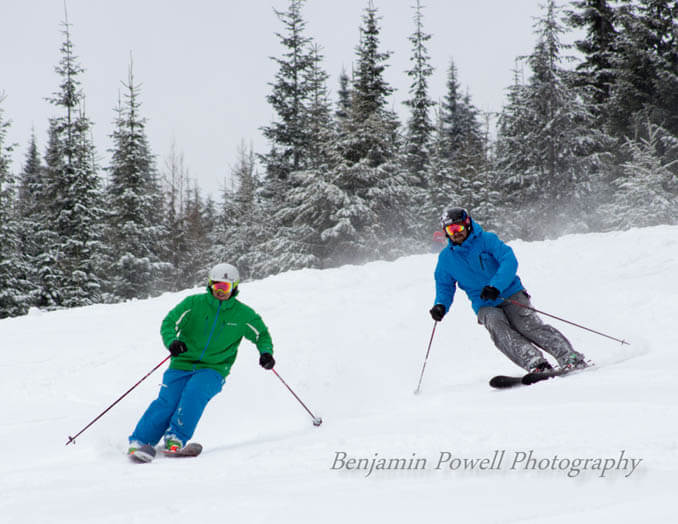 Skiing at Bald Mountain Ski Area. Photo Credit: Ski Idaho