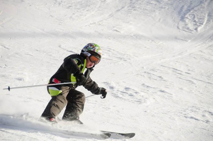 Skiing at Bogus Basin Mountain Recreation Area. Photo Credit: Ski Idaho