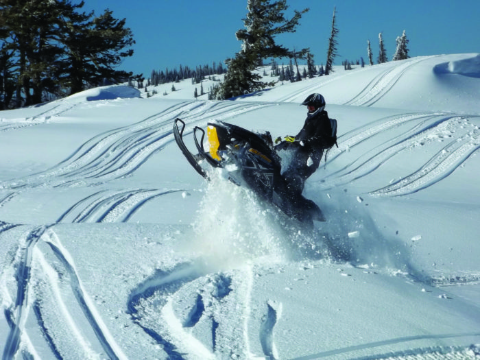 Snowmobiling through Lolo Pass. Photo Credit: Don Montgomery