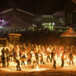 Village celebration at Grand Targhee Ski Resort. Photo Credit: Ski Idaho