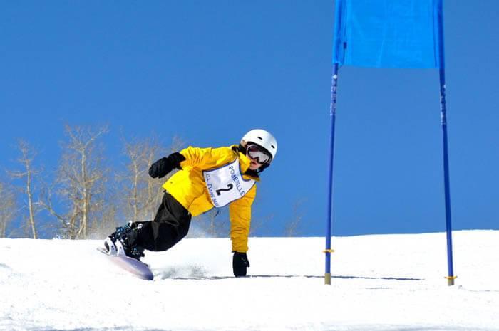 Snowboading at Pomerelle Mountain Resort. Photo Credit: Ski Idaho