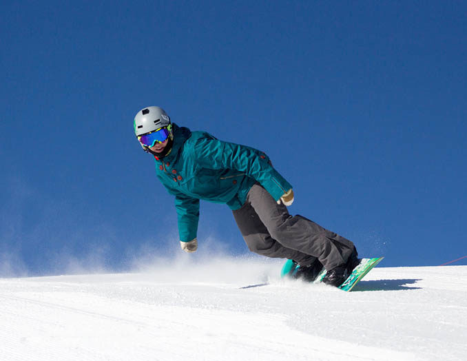 Snowboarding at Soldier Mountain Ski Area. Photo Credit: Ski Idaho