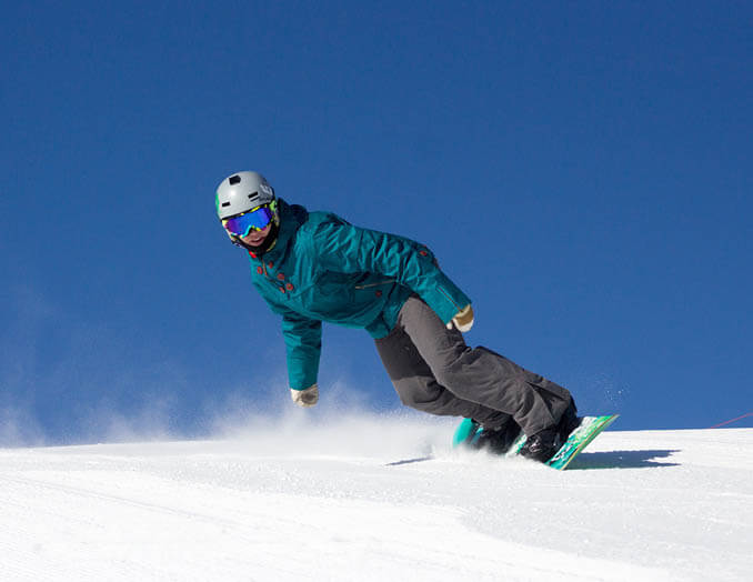 Snowboarding at Soldier Mountain Ski Area. Photo Credit: Ski Idaho