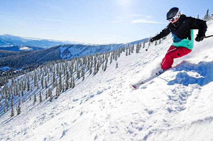 Skiing, Schweitzer Mountain Resort. Photo Credit: Ski Idaho