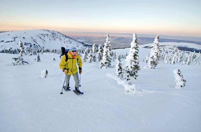 Snowshoeing near Pomerelle Mountain Resort. Photo Credit: Ski Idaho