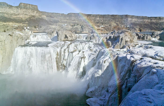 Shoshone Falls in the winter. Photo Credit: Blip Printers