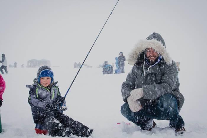 Ice Fishing on Cascade Reservoir. Photo Credit: Idaho Tourism
