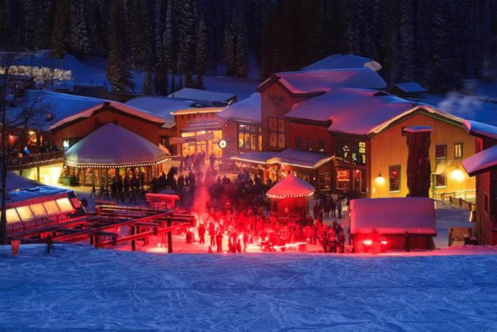 Village celebration at Grand Targhee Ski Resort. Photo Credit: Ski Idaho