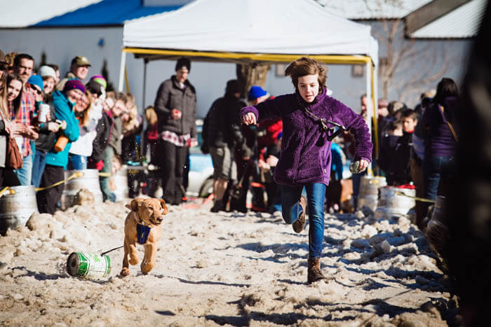 Dog Keg Pull Races, Sandpoint Winter Carnival, Sandpoint. Photo Credit: Idaho Tourism