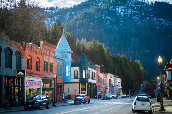 Downtown Wallace. Photo Credit: Idaho Tourism.