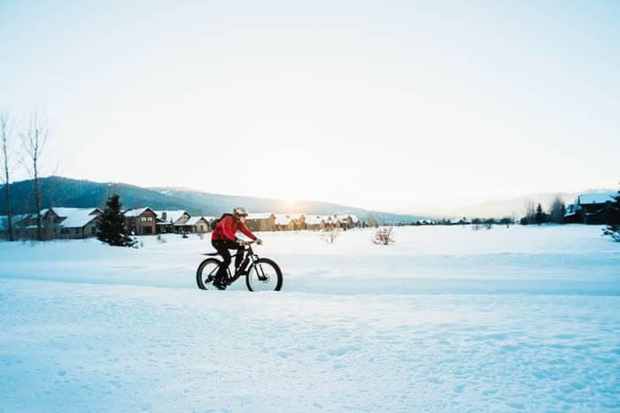 Fat Tire Biking, Victor. Photo Credit: Idaho Tourism