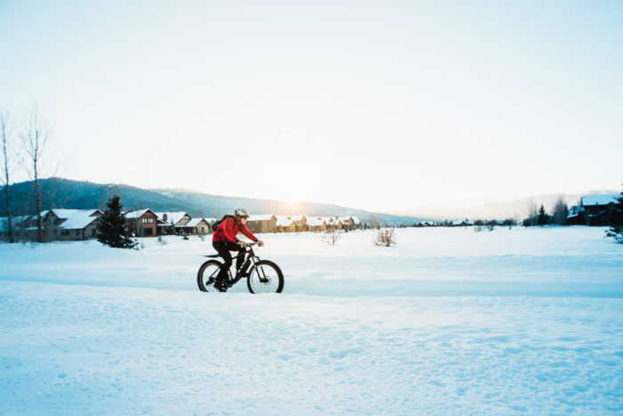 Fat Tire Biking, Victor. Photo Credit: Idaho Tourism