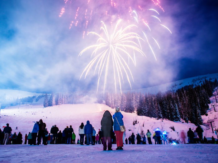 Fireworks, Sandpoint Winter Carnival, Schweitzer Mountain Resort. Photo Credit: Idaho Toursim