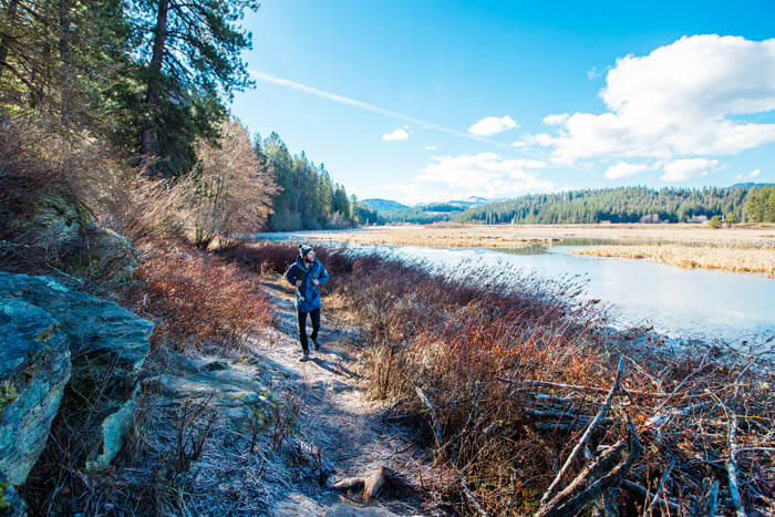 Hiking, Cougar Bay Preserve, Coeur d'Alene. Photo Credit: Idaho Tourism