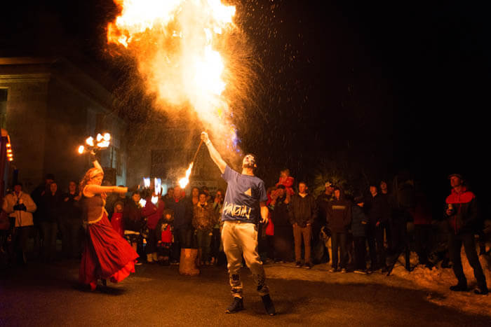 Live Entertainment, Fire and Ice Winterfest, Lava Hot Springs