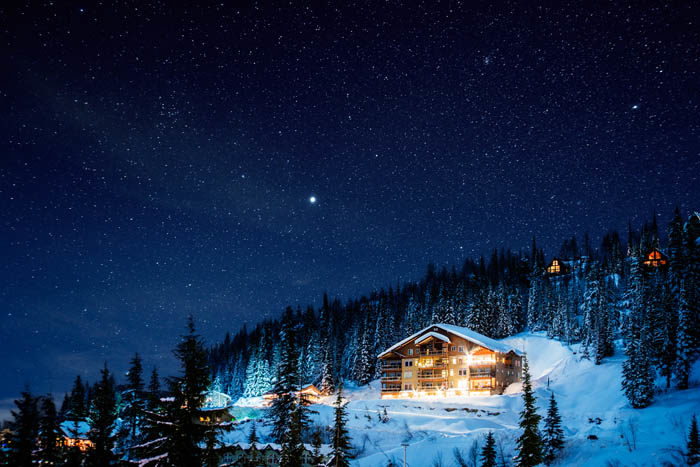 Beautiful night sky views at Schweitzer Mountain Resort. Photo Credit: Idaho Tourism