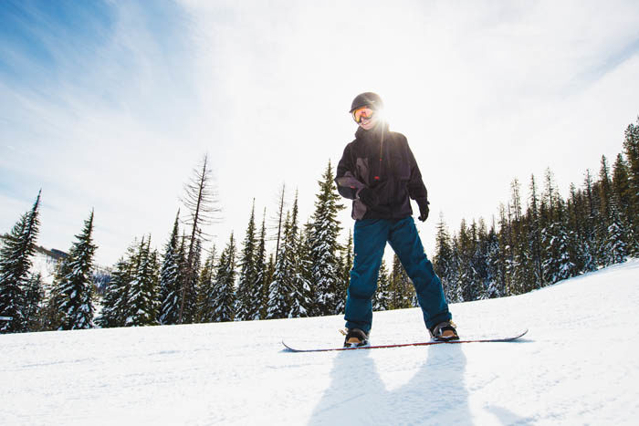 Snowboarding, Lookout Pass Ski Recreation Area, Wallace. Photo Credit: Idaho Tourism